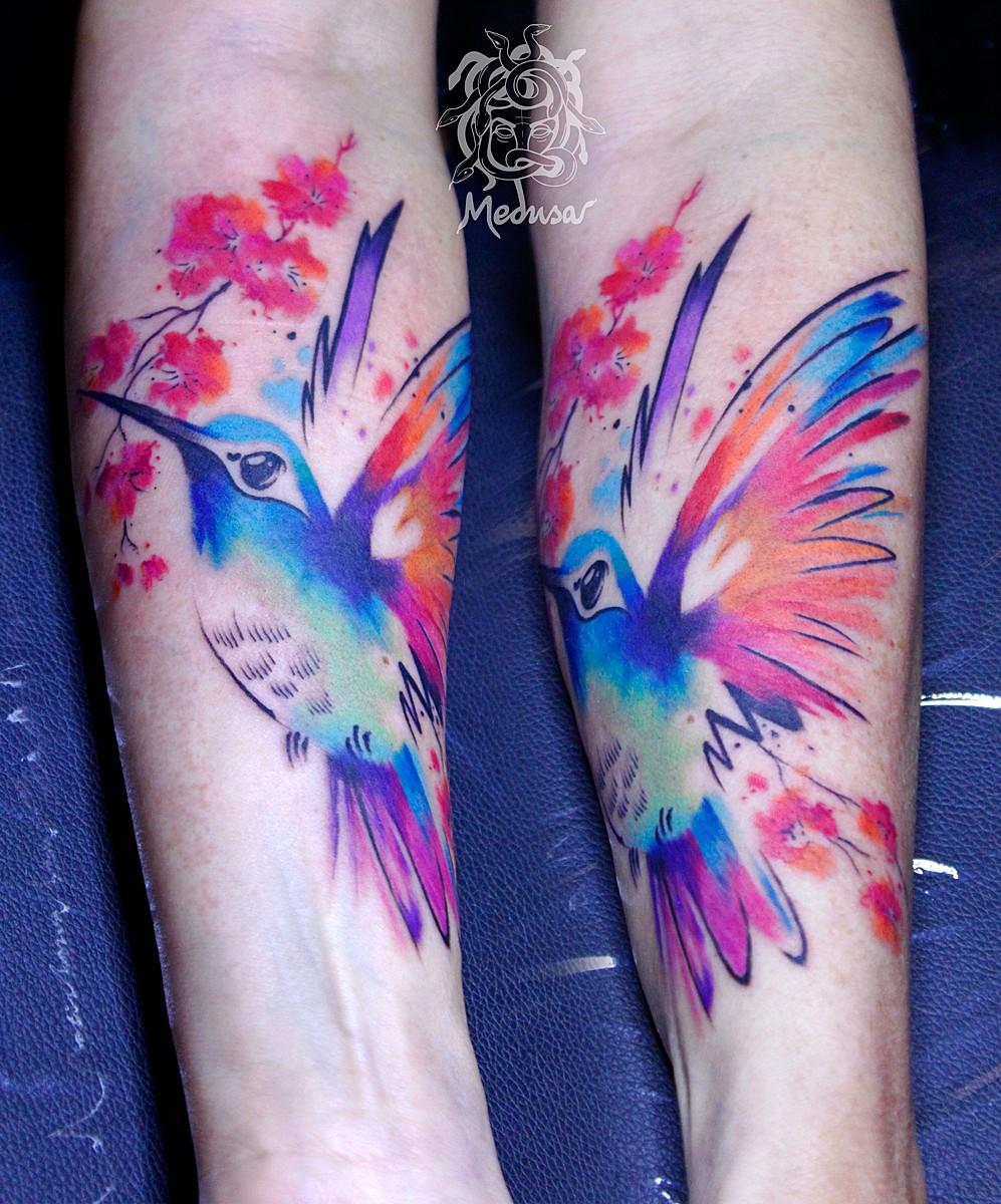 Watercolor tattoo Frýdek