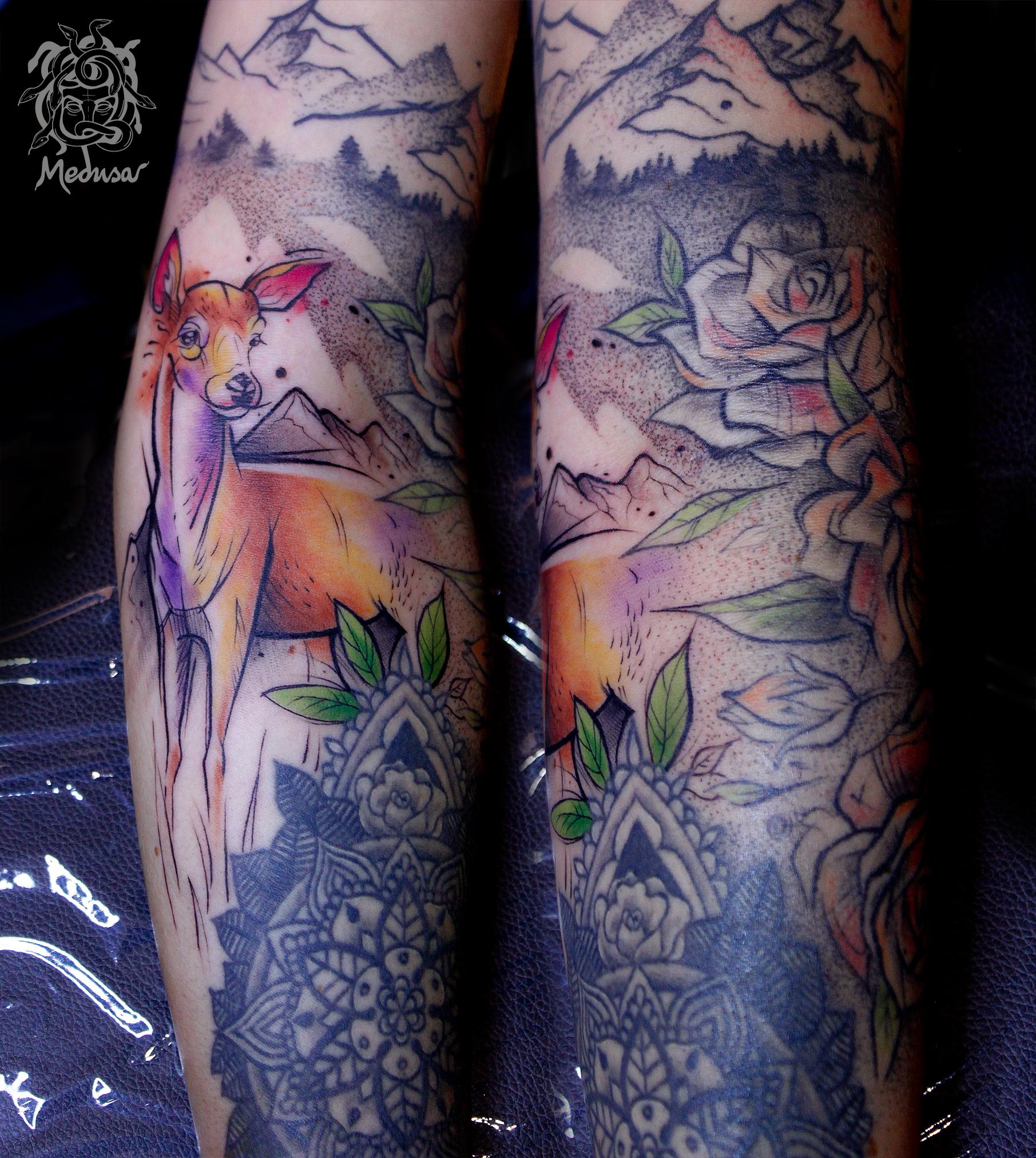akvarel tetování